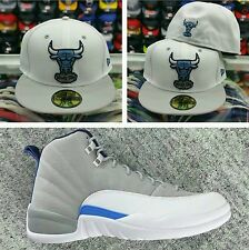 Matching New Era Chicago Bulls fitted hat for Jordan 12 GREY/UNC