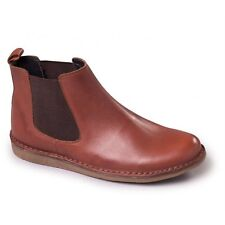 CLEARANCE Padders JEZ Mens Leather Twin Elastic Gusset Wide (G) Dealer Boots Tan