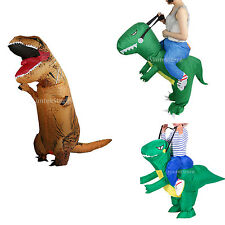 Kids/Adult Inflatable T-Rex Dinosaur Halloween Costume Fancy Giant Outfit