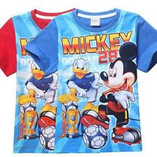 Kids T Shirt Boys Girls Costume Mickey Mouse Short Sleeved Cartoon T-shirts 2-7T
