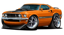 1969 Ford Mustang Mach 1 Muscle Car Art Print NEW