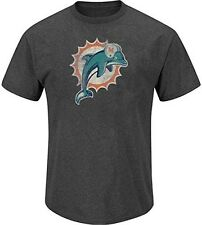 Miami Dolphins NFL Mens Distressed Wash Shirt Navy Blue Adult Size Small
