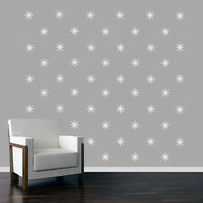 Retro Starbursts - Flowers & Shapes Mural Wall Decals
