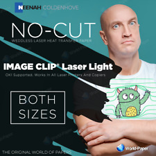 Laser Light (No-Cut)SELF-WEEDING TRANSFER PAPER - for light colored garments
