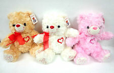 Teddy Bear Plush Stuffed Animal Toy Valentine Party Gift Pink White Brown