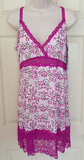 DELTA BURKE Intimates Babydoll Chemise SEXY LACE Pink Baroque PLUS 1X 2X 3X