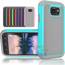 Heavy Duty Hybrid Rubber Hard Impact Case Cover for Samsung Galaxy S7 Active