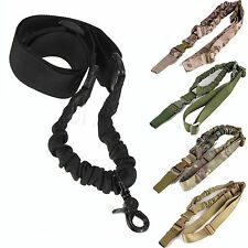 Adjustable One Single Point Sling Bungee Tactical Rifle Gun Sling Strap Hunting