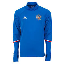 BNWT Adidas UEFA EURO 2016 RUSSIA Blue L/S Soccer Football Training Top AC5799