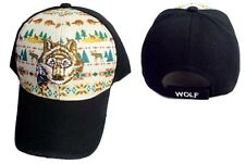 Wolf Native Pride Baseball Caps Hats Embroidered 1Pc or 6Pc Lot  ( CapNp535)