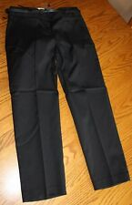 Van Heusen Stretch Womens Black Capris Cropped Dress Pants Slacks