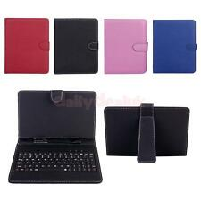 """USB Interface Keyboard PU Leather Case W/ stylus pen For Tablet PC 7"""" MID"""