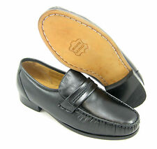 CLIMATE X 21592-4 EEE WIDE WIDTH MENS BLACK Slip on Loafers, LEATHER Dress Shoes