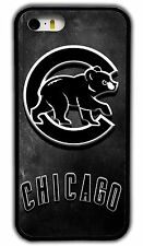 NEW CHICAGO CUBS MLB RUBBER PHONE CASE COVER FOR IPHONE 4 4S 5 5S 5C 6S 6 PLUS