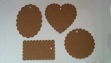 20x Brown kraft paper tags  luggage wedding gift favour place cards wishing tree