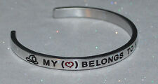 My Heart Belongs To A Firefighter  |:| Handmade & Polished Bracelet