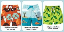 Gymboree NWT Baby & Toddler Brightly Colored Swim Trunks Szs 12-18 & 18-24 Mos