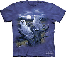 Snowy Owls The Mountain Adult Size T-Shirt