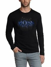 HUGO BOSS Mens Long Sleeved Crew Neck T-Shirt TOGN 2 BOSS Green - New With Tags