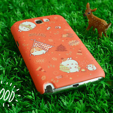 Cute Molang Phone Hard Back Skin Case Cover for Smart Phone - camping Red