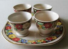Vintage Swinnerton, England, set of four egg cups & stand,