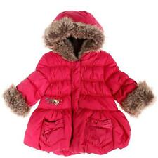 CATIMINI Toddler Girls 12m faux fur hooded Puffer Jacket/Coat - NWT