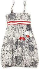 DESIGUAL ~ Girls 7/8 & 9/10yrs VEST ITALIANO PRINTED DRESS BLANCO  - NWT