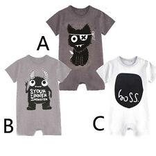 Summer Toddler Kids Baby Bodysuit Romper Short Sleeve One-Piece Jumpsuit 0-12M