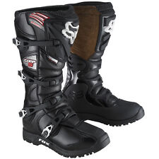 FOX RACING BLACK MENS ADULT COMP 5 OFFROAD RIDING MX ATV BOOTS SIZE 10 OUTSOLE