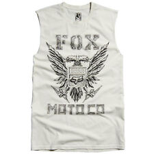 Mens Med Fox Racing Jersey 100% Cotton DEE EYE WHY Chalk Tank Top Tee T Adult