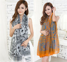 Women Girls Voile Vintage Persia veins Scarf Shawl Wrap Stole Soft Scarves Hot