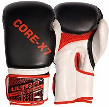 Boxing Gloves MMA Sparring Punch Bag Muay LeatherThai Training Grappling mitts