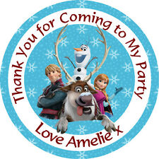 Personalised Disney Frozen 37mm Birthday Stickers Party Thank You Seals - L15