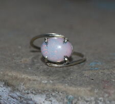 Natural Ethiopian Welo Fire Opal 925 Sterling Silver 2 To 12 US Jewelry Ring
