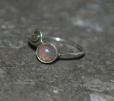 Natural Ethiopian Welo Fire Opal Ring Jewelry 925 Sterling Silver 2 To 12 US