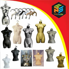 BEST QUALITY HANGING FEMALE MANNEQUIN BODY TORSO FORM DISPLAY BUST FEMALE HEAD