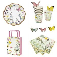 Truly Fairy Party Range of Cups, Plates, Napkins, Butterfly Bunting & Fairy Door