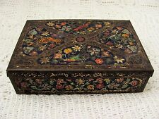 STUNNING VINTAGE CWS BISCUITS JEWEL COLOURED TIN