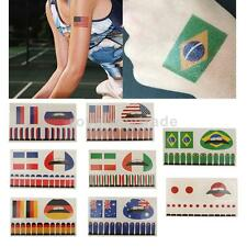 Country Flag Temporary Tattoos Water Proof Lips Nail Stickers Party Favors Art