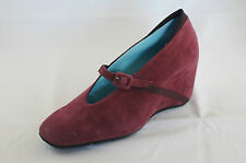 Thierry Rabotin,exclusive Wedge Pumps,102 M blackberry,Camoscio Suede leather