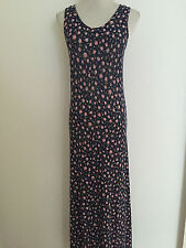 NEW ASOS  NAVY FLORAL PRINT JERSEY A LINE MAXI DRESS