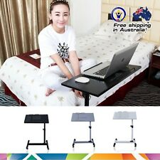 Height Adjustable Rotating Bedside Laptop Table Desk Tray With Air-vented