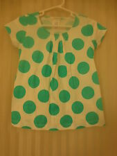 Crewcuts Girl's Polka Dot Shirt Top NWT Green J Crew Girls T New Summer