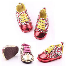 AU Infant Toddler Sneakers Baby Leopard Soft Sole Shoes Newborn 0-12 Months 0128