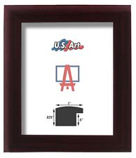 """1"""" Nugget Cherry Maroon Solid Poplar Hardwood picture poster frame-18 inch wide"""