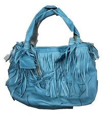 B. Makowsky Glove Leather Tote with Fringe Detail A212792 SPRUCE
