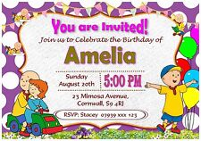 Personalised Caillou Birthday Invitations Party Invites With Envelopes - I20