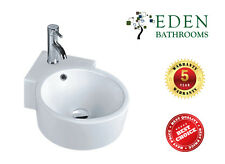 CERAMIC ROUND WALL HUNG BASIN- MODEL E