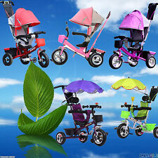 Kid Trike Tricycle Ride-On Toys Sun Canopy Baby Toddler Pram Stroller Jogger Car