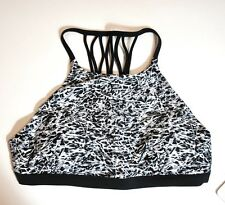 NWT Lululemon Tidal Flow Net Top Mini Ripple White Seal Black MRWS 6 8 10 Swim